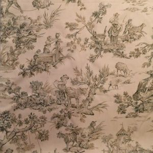Vintage Toile Fabric 4 yards